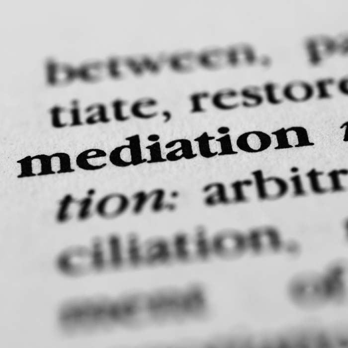 Close Up Of Word Mediation In Dictionary